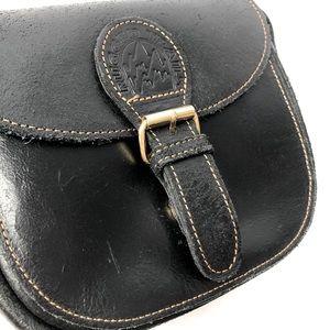 RUGGED TRAILS small leather black crossbody BNWOT